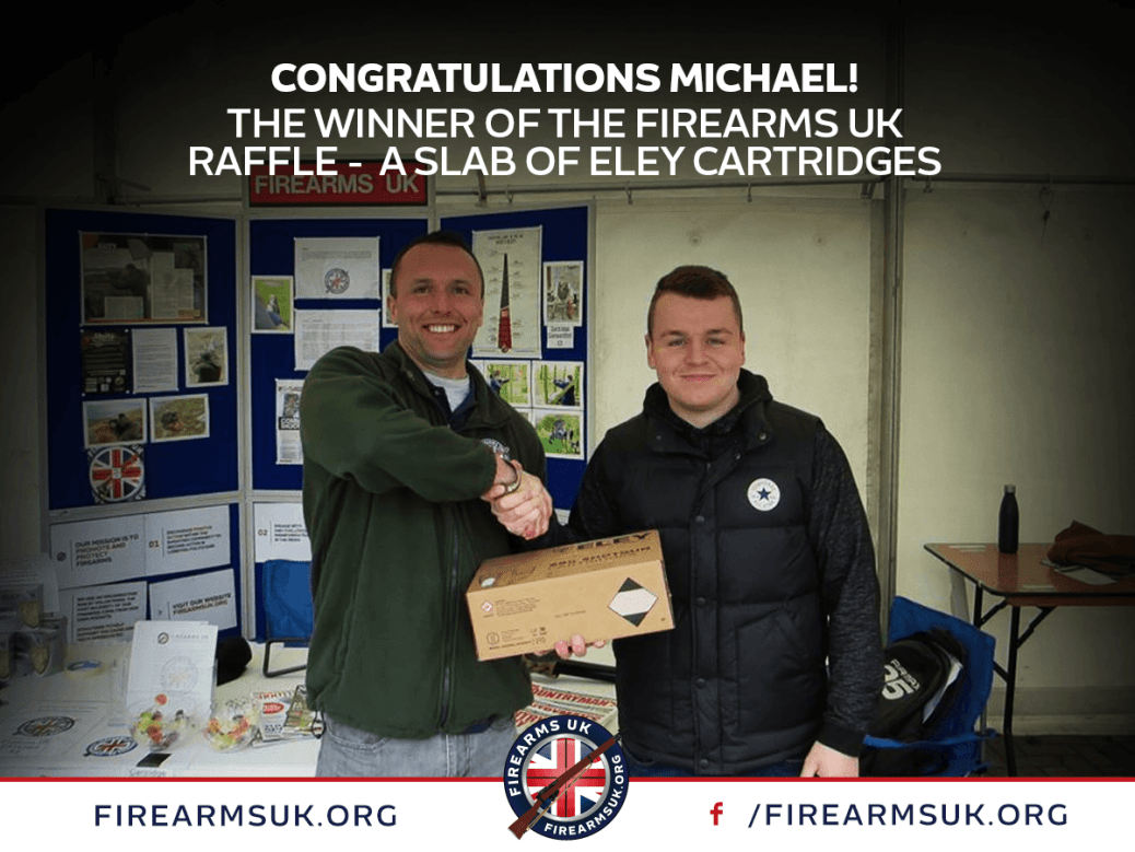 Firearms UK Raffle Winner, Eley Cartridges