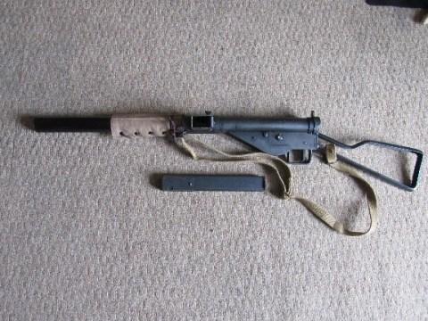 The Hudson Sten MkII(S) Plug Fire Cap Submachine Gun