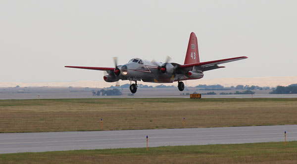 Tanker 43 landing at Rapid City Air Tanker Base