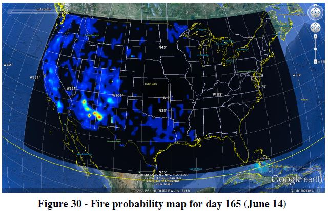 Wildfire probability June 14