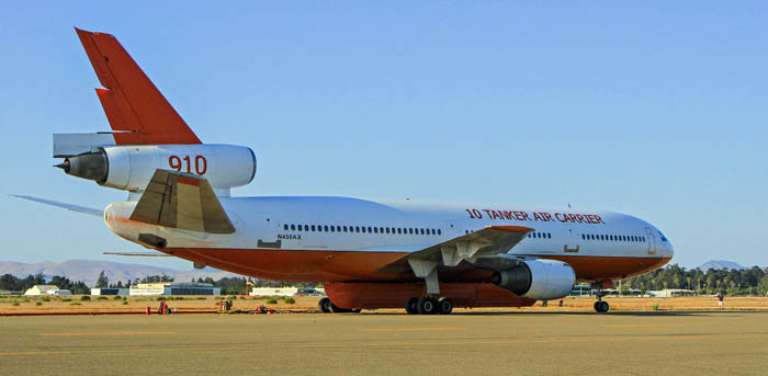 Tanker 910 at Santa Maria air tanker base