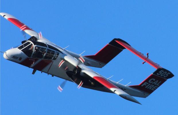 OV-10 on Rim Fire August 29, 2013