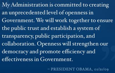 White House, open government