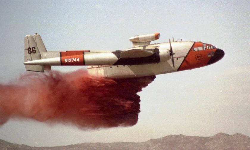 T-86, a C-119, makes a drop in 1979
