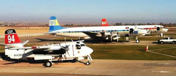 DC-7 air tankers at Paso Robles Air Tanker Base