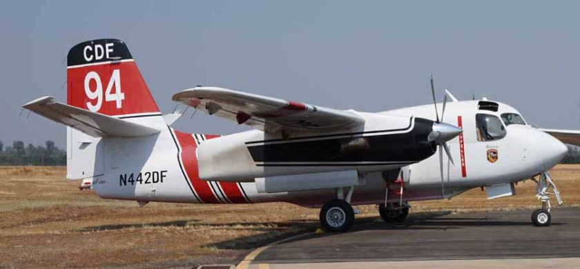 Tanker 94, an S-2T, at Redding