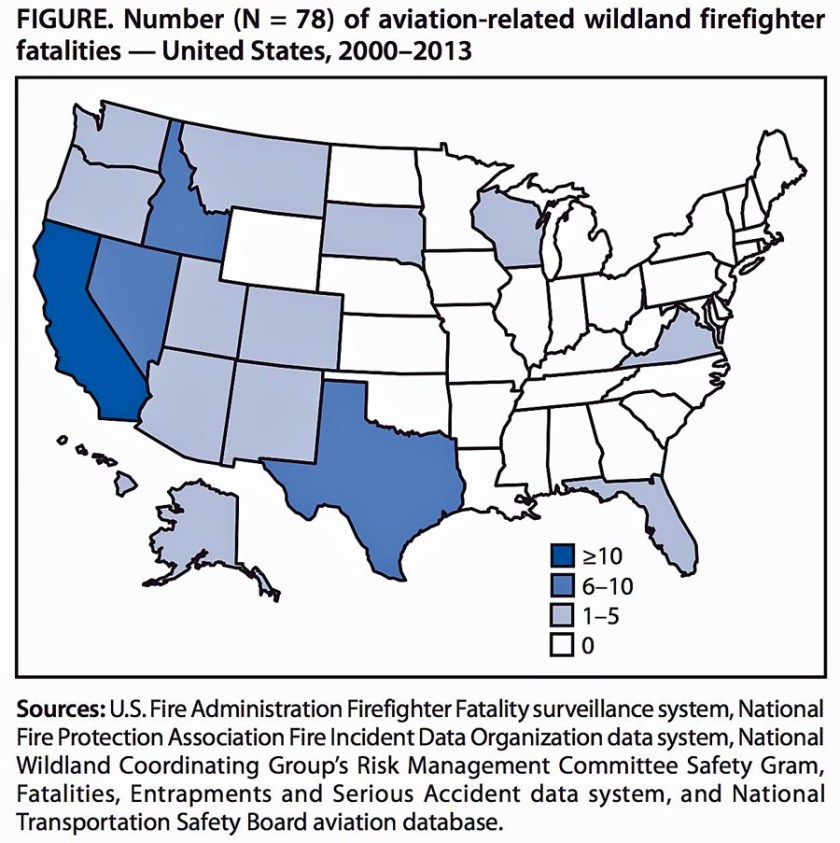 Aviation Fatality Map wildland fire