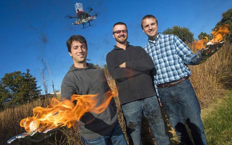 University of Nebraska drone aerial ignition fire