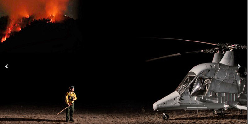 K-MAX helicopter fire