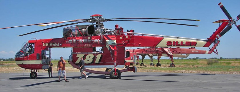 Siller Helicopters CH-54A H-781 fire