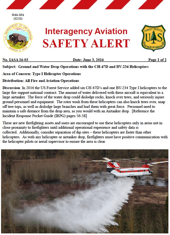 Safety alert chinook