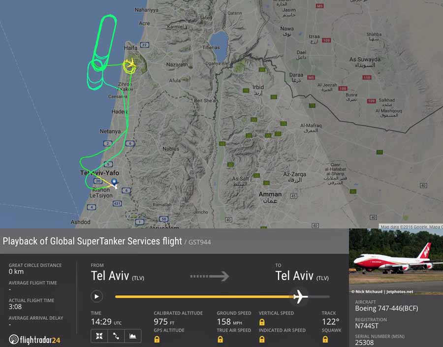 How the 747 Supertanker was used in Israel