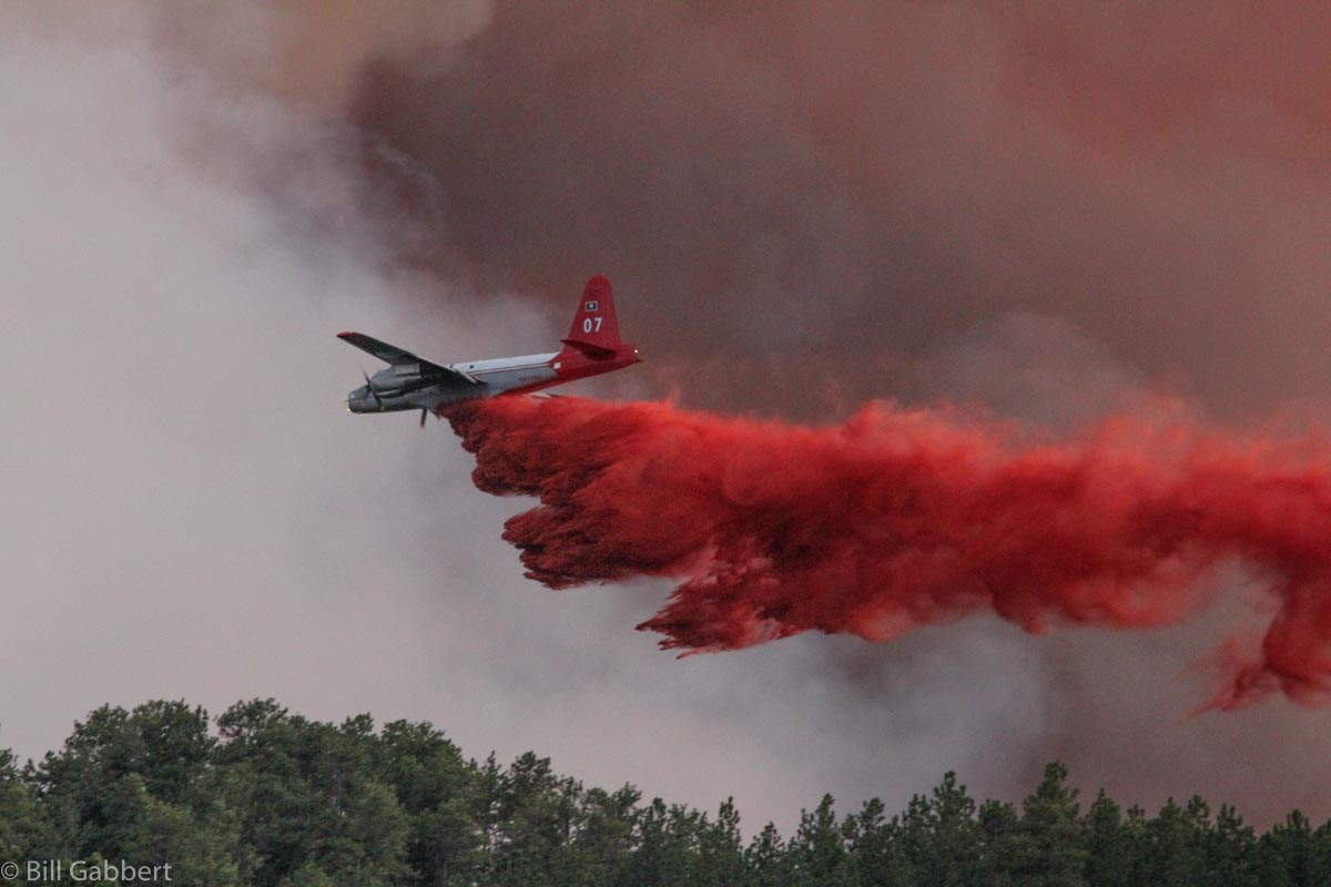 Myrtle Fire air tanker p2v