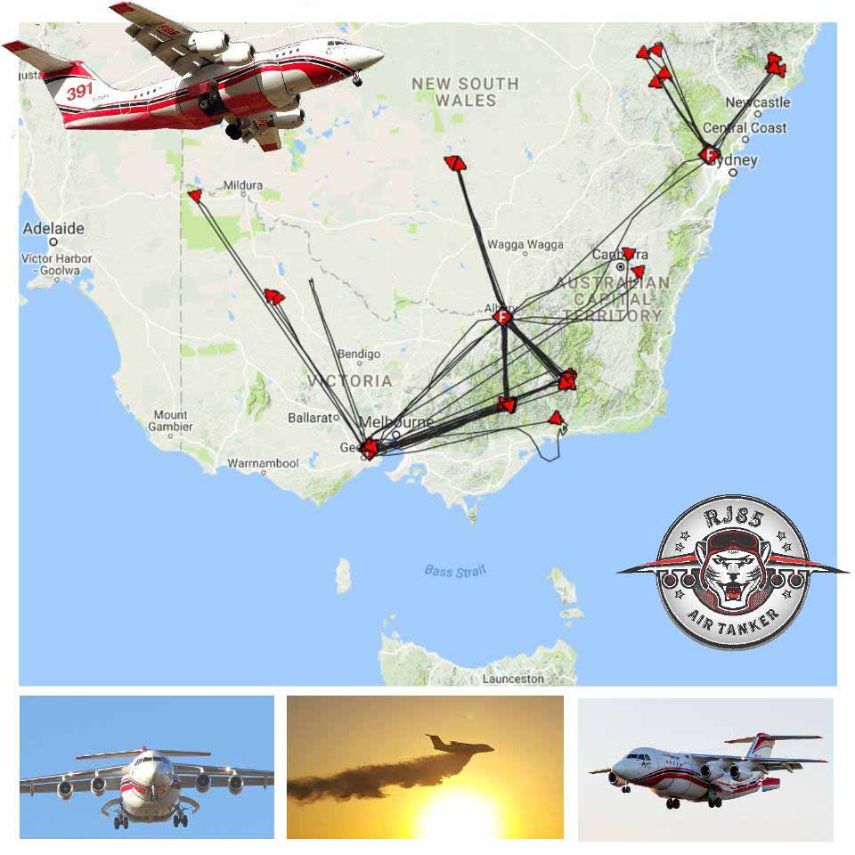 Tanker 391's missions during the Australian summer