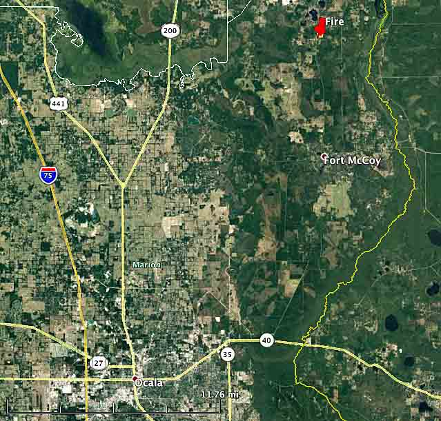 map fire helicopter crash florida