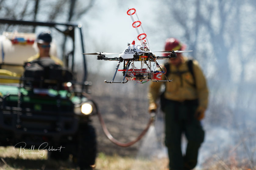 drone prescribed fire Homestead NHS