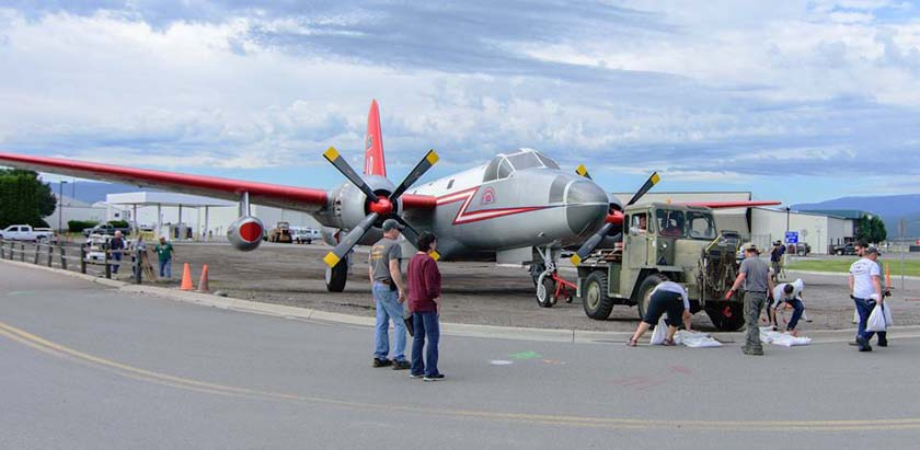 Neptune's Tanker 10 entrance Missoula airport