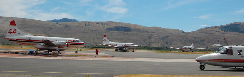 Air tankers at Kamloops