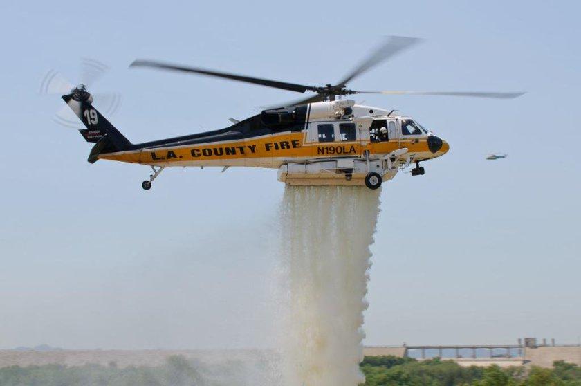 firehawk helicopter LA County FD CAL FIRE
