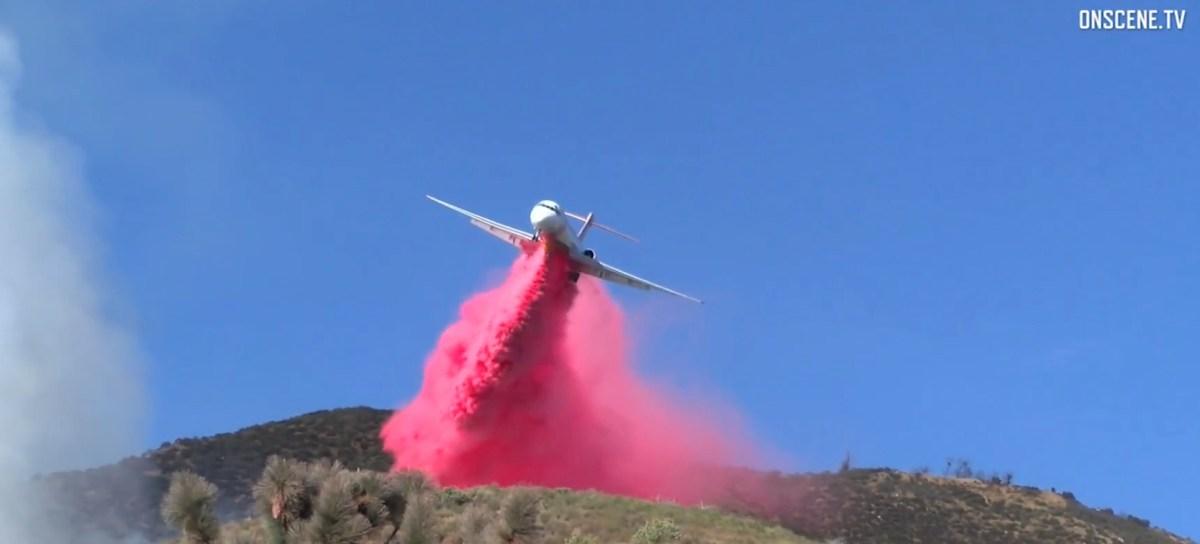 Aerial firefighters on the Oak Fire
