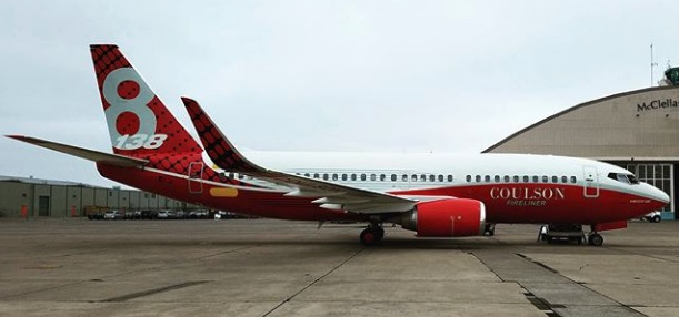 A second 737 air tanker emerges from paint shop