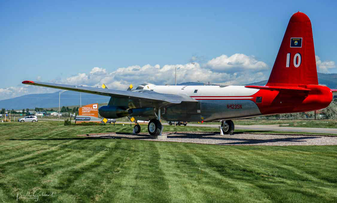 P2V air tanker 10 gate guard missoula airport
