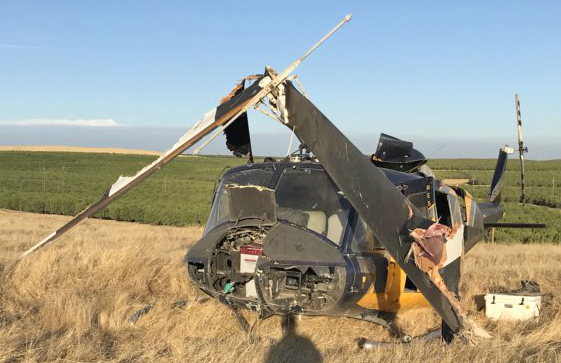 helicopter crash Oakdale California