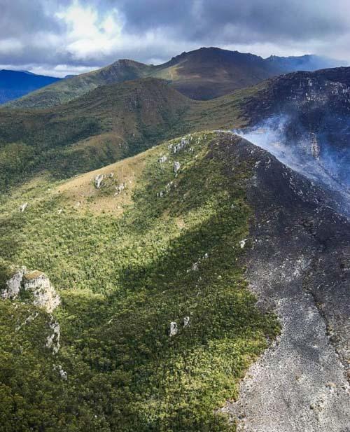 Gell River Fire Tasmania