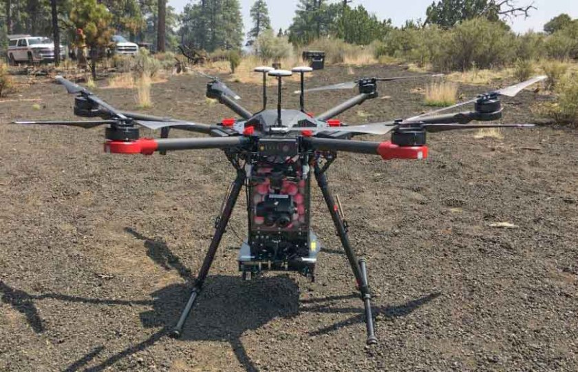 drone aerial ignition wildfire