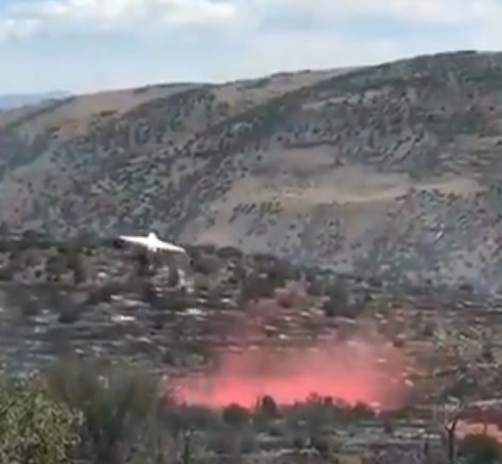 BAe-146 retardant drop