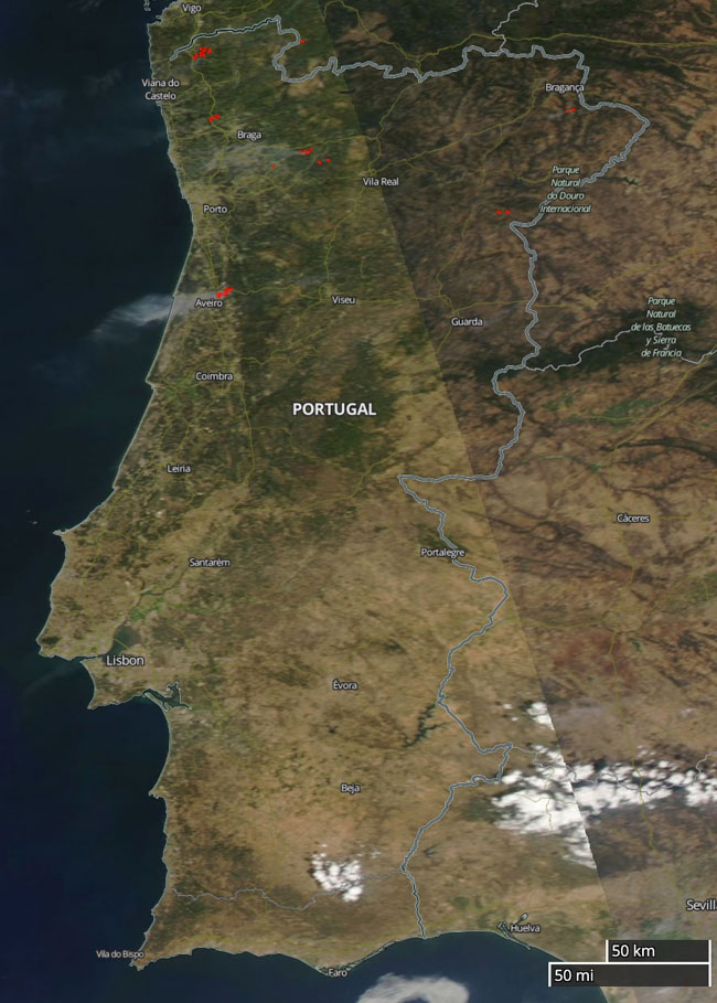 fires map Portugal