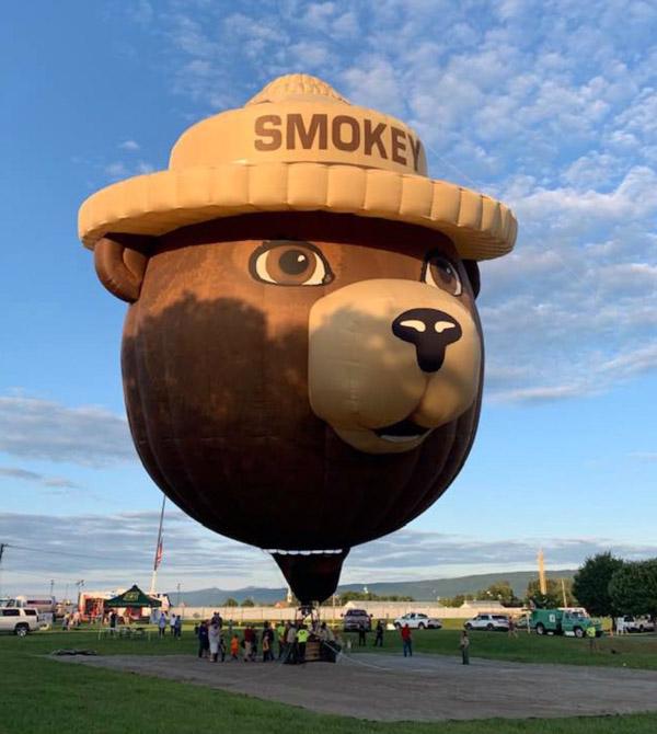 Smokey Bear balloon