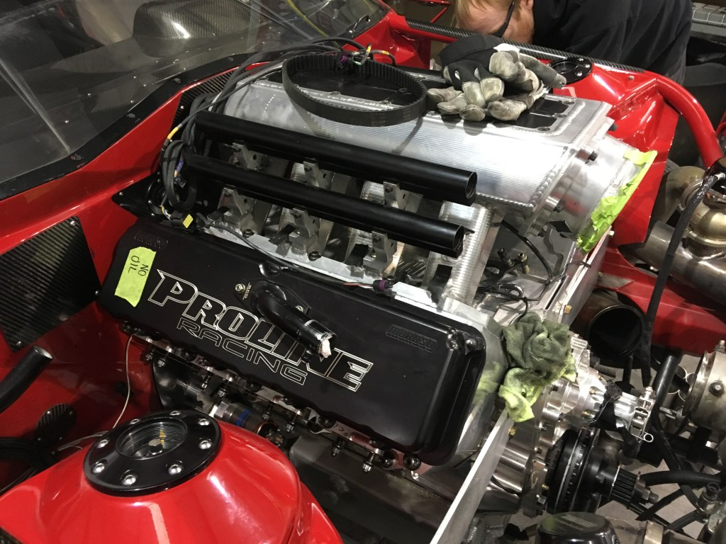 Fireball Racecar New Engine