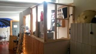Firebird Studios - removing the plasterboard