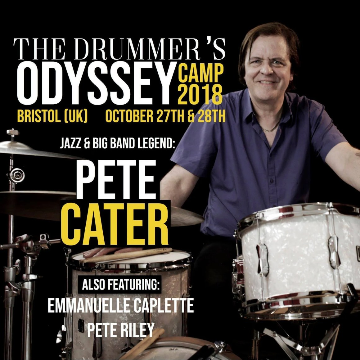 Pete Cater jazz drums