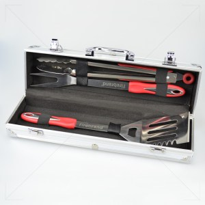 3pc SS BBQ Tool Set & Carry Case