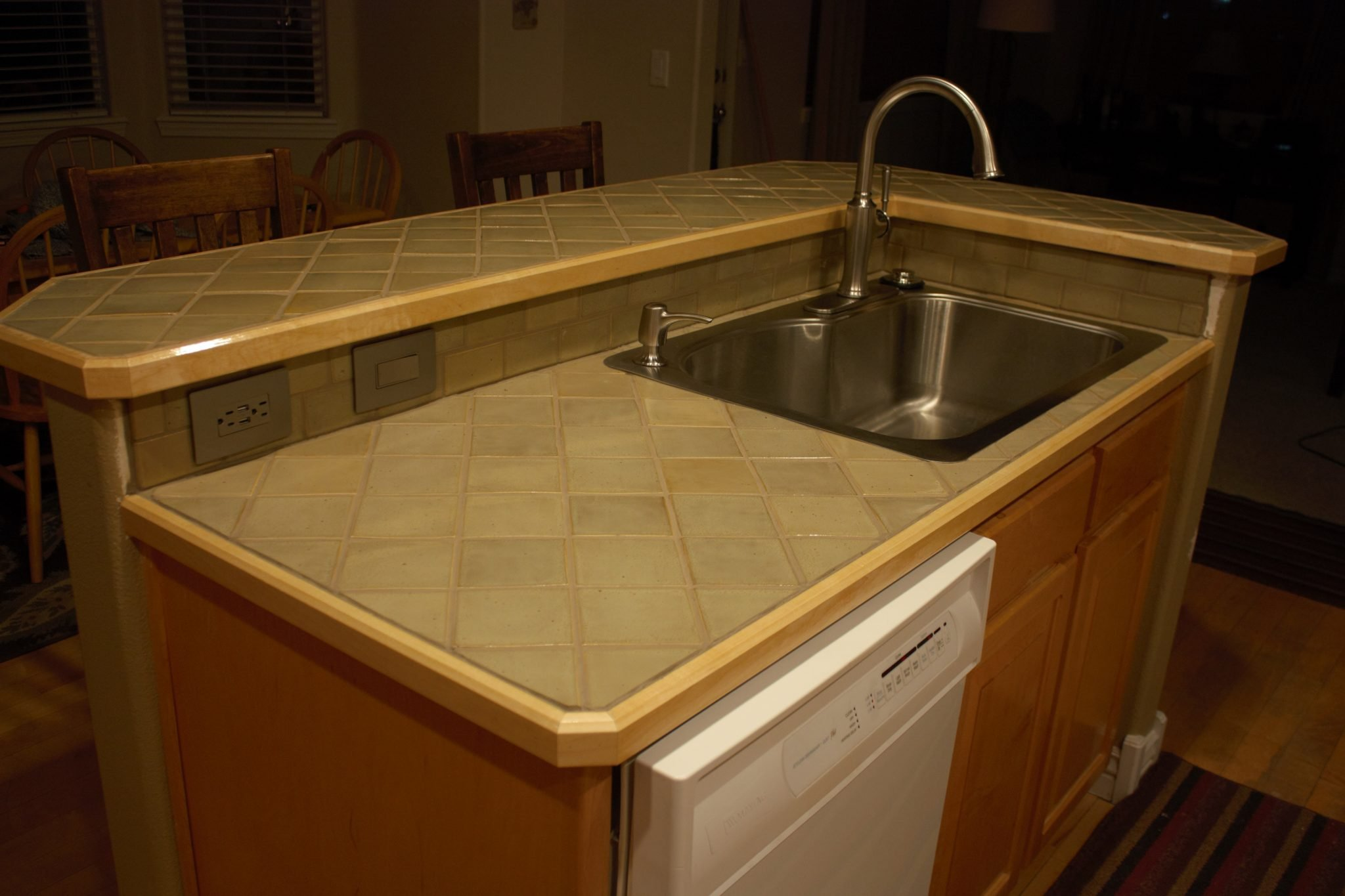 Ceramic Tile Countertops Add Beauty And Personality To A Home.