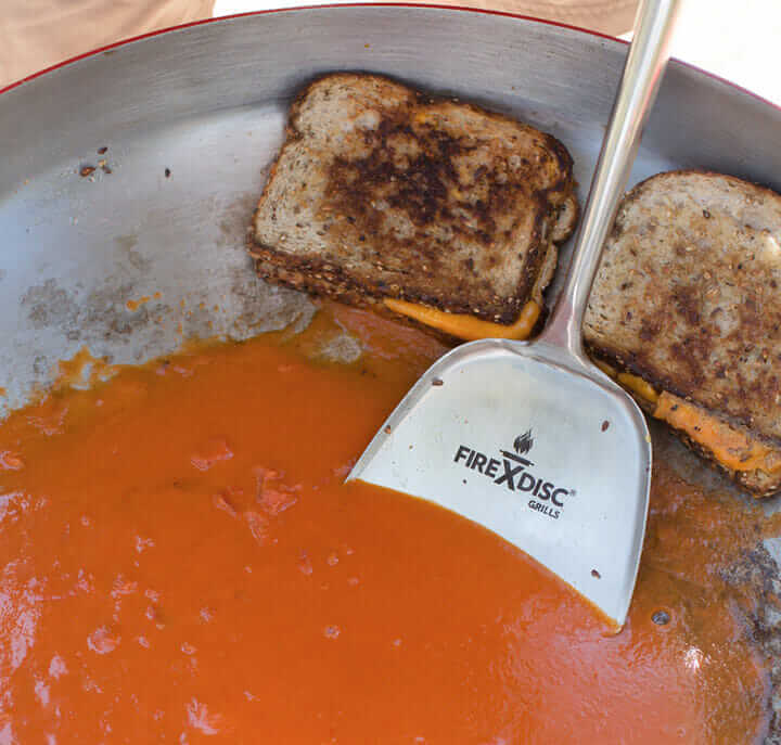 grill-cheese-and-soup-on-firedisc-griddle