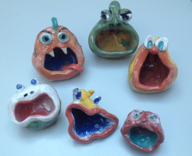 Monster pinch pots