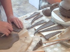 Making tail feathers
