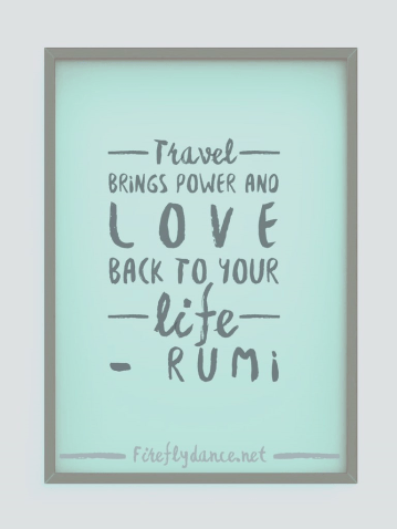 Travel quote - Rumi