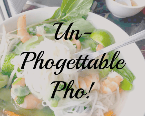 Vietnamese Pho with Vegetables and Prawns