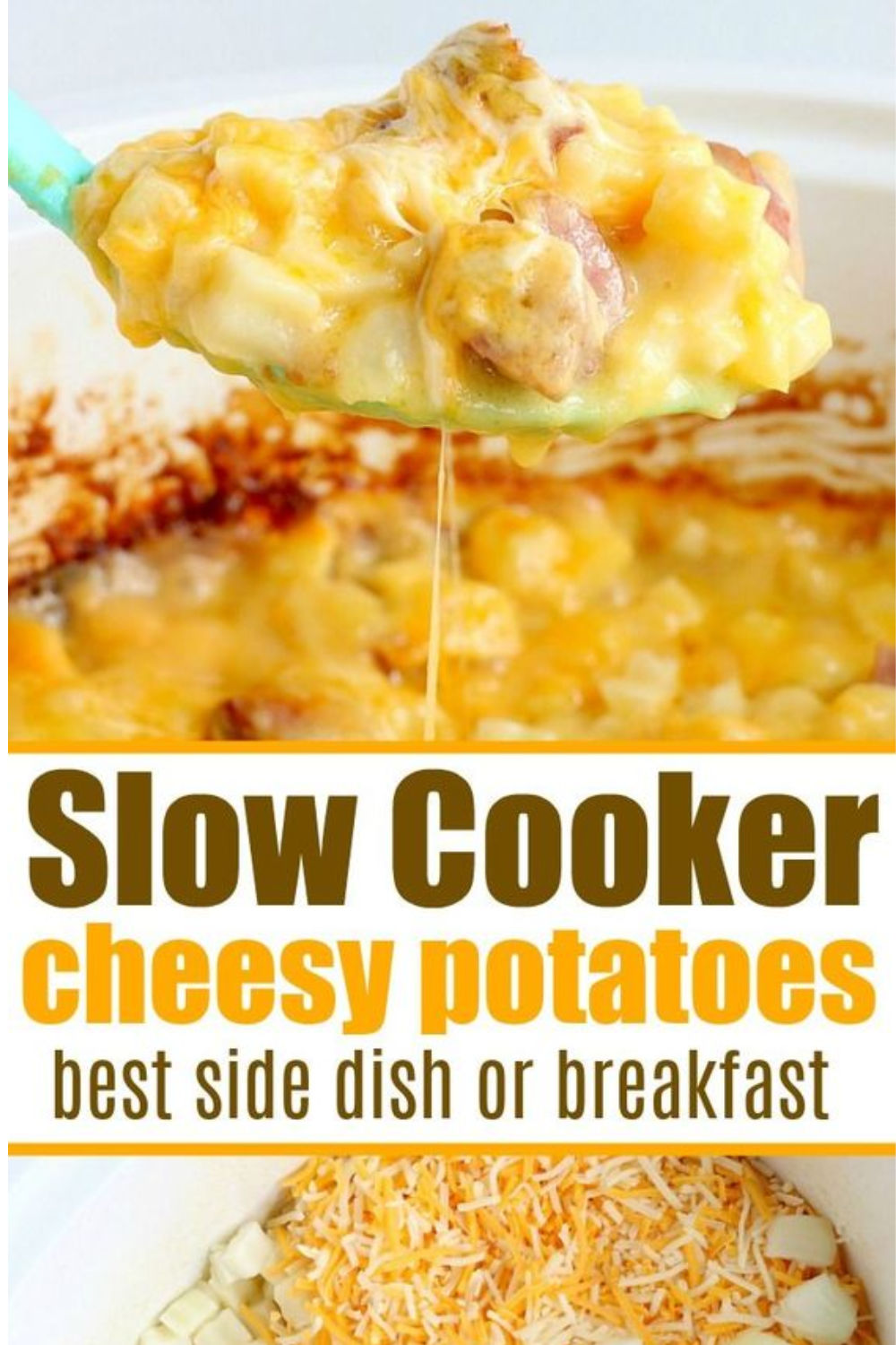slow cooker cheesey potatoes