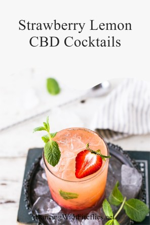 Strawberry Lemon CBD Cocktails