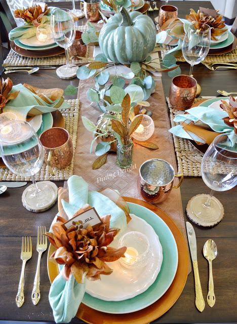 copper thanksgiving table