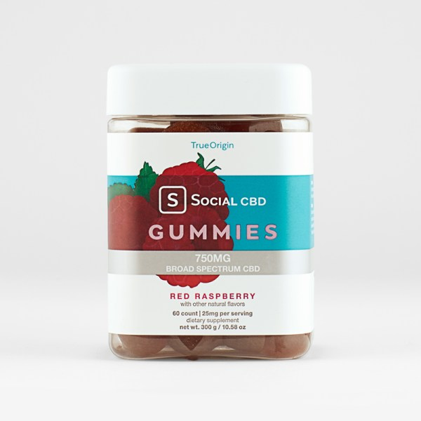 Raspberry CBD gummies 25 mg
