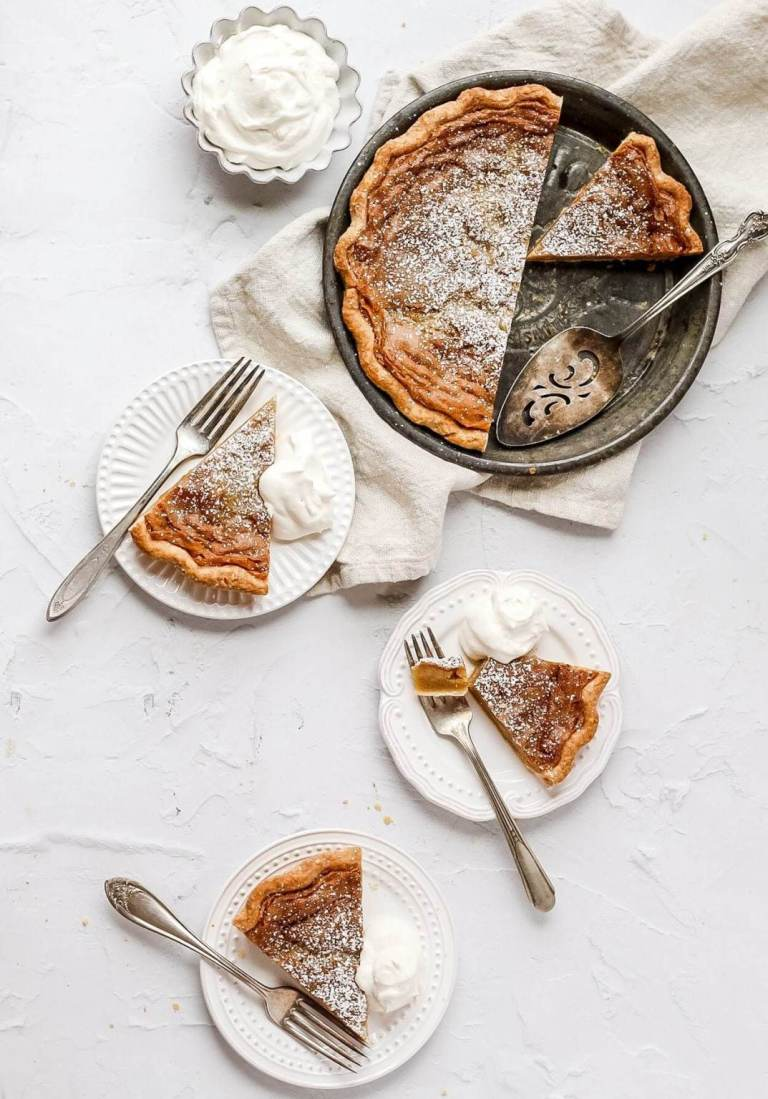 brown butter bourbon chess pie