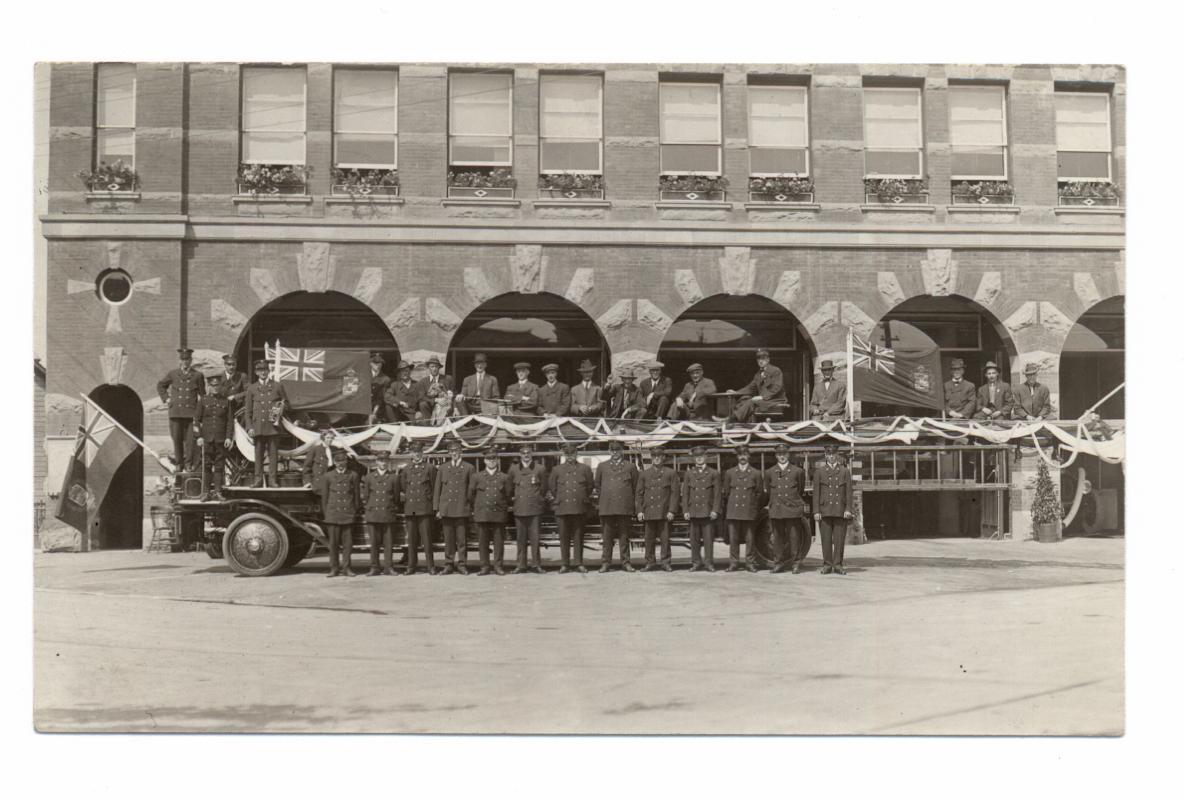 Fire Headquarters Calgary Early 20th Century