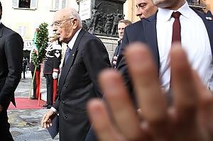 Pisa, gli antagonisti contestano Napolitano