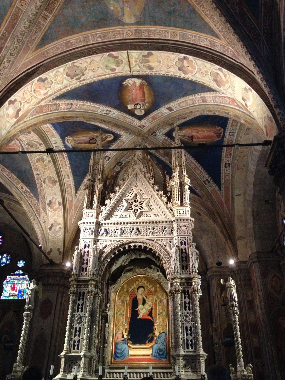 オルカーニャ作 主祭壇(オルサンミケーレ教会)